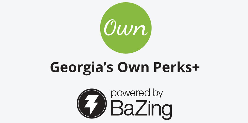 Georgia's Own Perks Plus powered by Bazing logo
