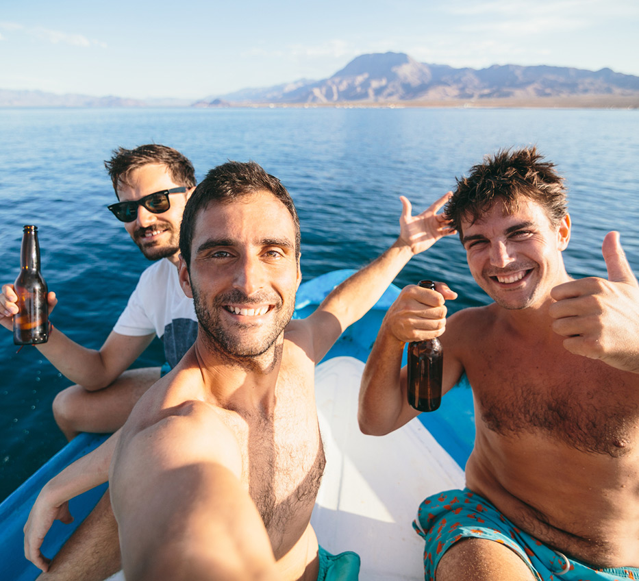 guys enjoying time on a boat