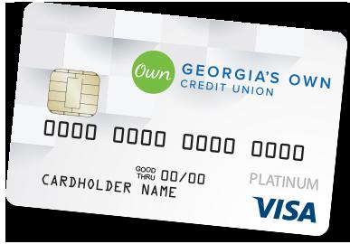 Georgia's Own Visa Platinum credit card