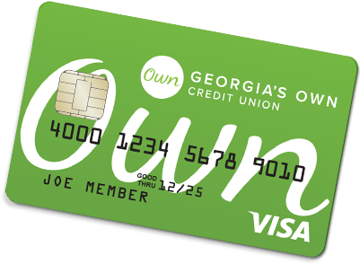 Replica of the Georgia's Own debit card