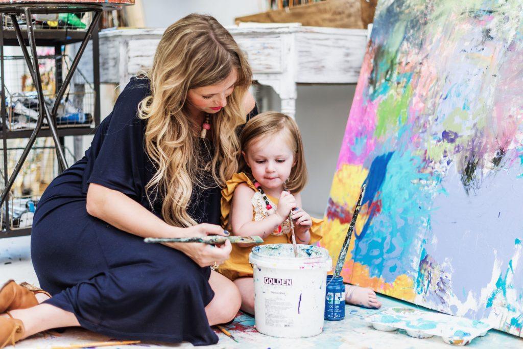 Elaine Burge painting